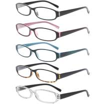 Reading Glasses 5 Pairs Spring Hinge Comfort Fashion Quality Readers for Men and Women