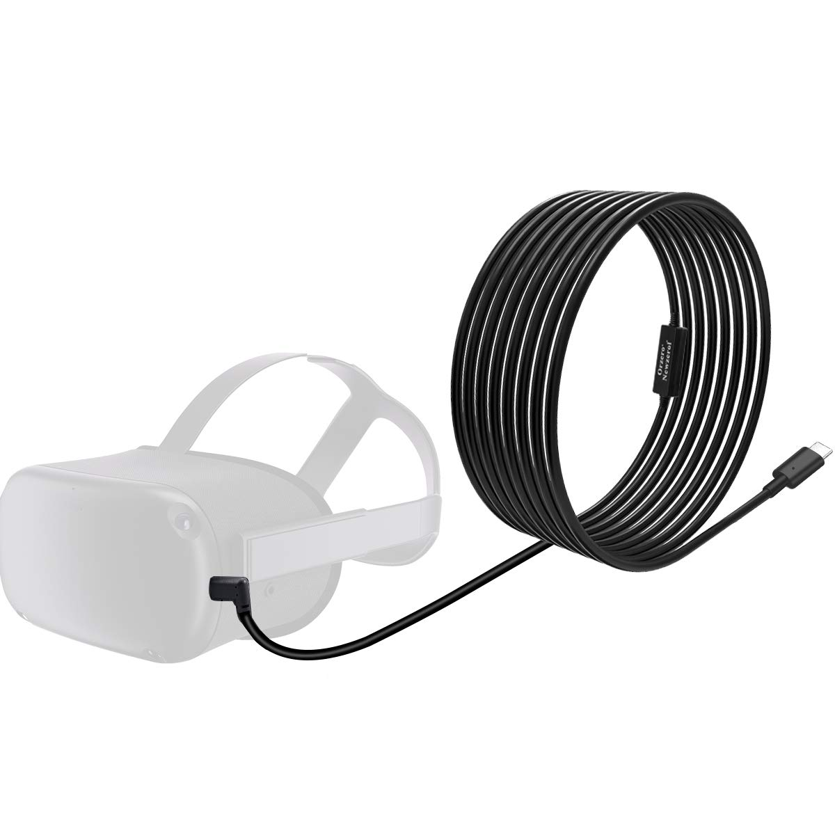 Orzero Total 6M / 20Ft Type C Stable Data Cable Compatible for Oculus Quest Link Steam VR, Extension Cable with Relay Amplifier Chip and USB 3.2 Gen 1 Cable(Cable Only)