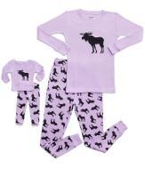 Leveret Kids & Toddler Pajamas Matching Doll & Girls Pajamas 100% Cotton Christmas Pjs Set (2-14 Years) Fits American Girl