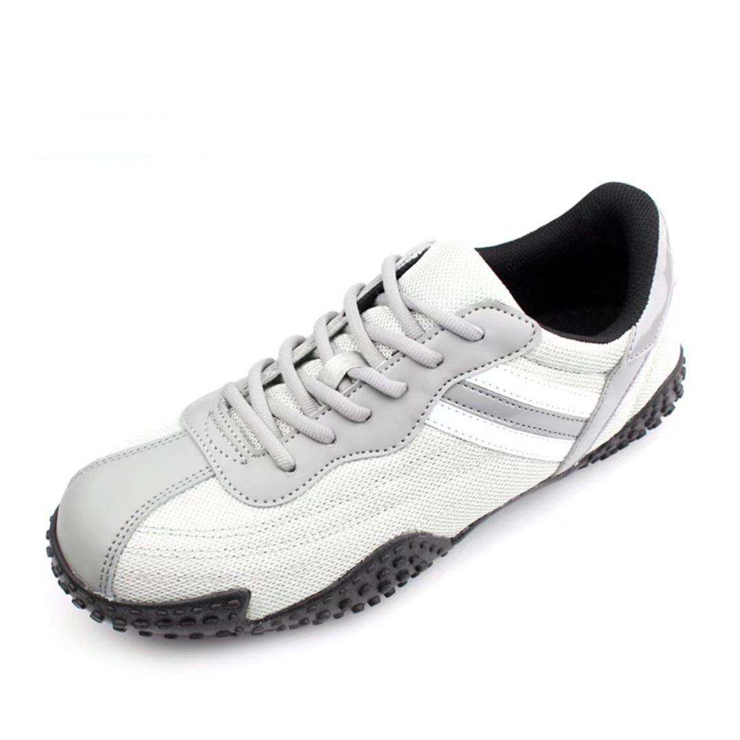 DDTX Men's Work Shoes Steel Toe Steel Midsole Athletic Safety Sneakers Grey