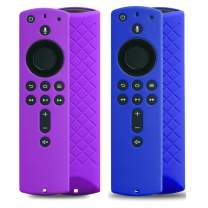 2 Pack Covers for All-New Alexa Voice Remote for Fire TV Stick 4K, Fire TV Stick (2nd Gen), Fire TV (3rd Gen) Shockproof Protective Silicone Case (Purple+Blue)