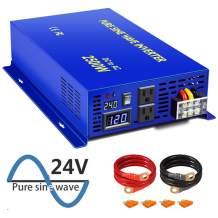 XYZ INVT 2500w Pure Sine Wave Inverter 24v dc to 120v ac Peak Power 5000w Converter (2500W24V)