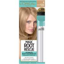 L'Oreal Paris Magic Root Rescue 10 Minute Root Hair Coloring Kit, Permanent Hair Color with Quick Precision Applicator, 100% Gray Coverage, 8 Medium Blonde, 1 kit (Packaging May Vary)