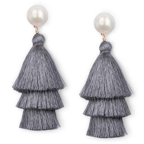 Gift for her Prom earrings Boho earrings Black stud earrings 14K gold stud earrings Black earrings Statement earrings Stud earrings