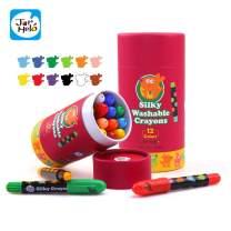 Jar Melo Washable Crayons -12 Colors; Non Toxic; 3 In 1 Effect (Crayon- Pastel- Watercolor); Slick; Twistables Gel Crayons; Barrel Crayons; Art Tools; Silky Crayons; Jumbo