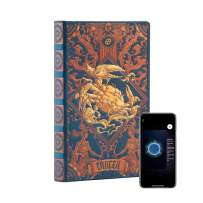 """AstroReality: Zodiac 12 Constellation Astrology Notebook, Interactive Augmented Reality Experience, 8x5"""", 192 Pages Writing Pad Journal, Unruled Embossed Hardcover (Cancer)"""