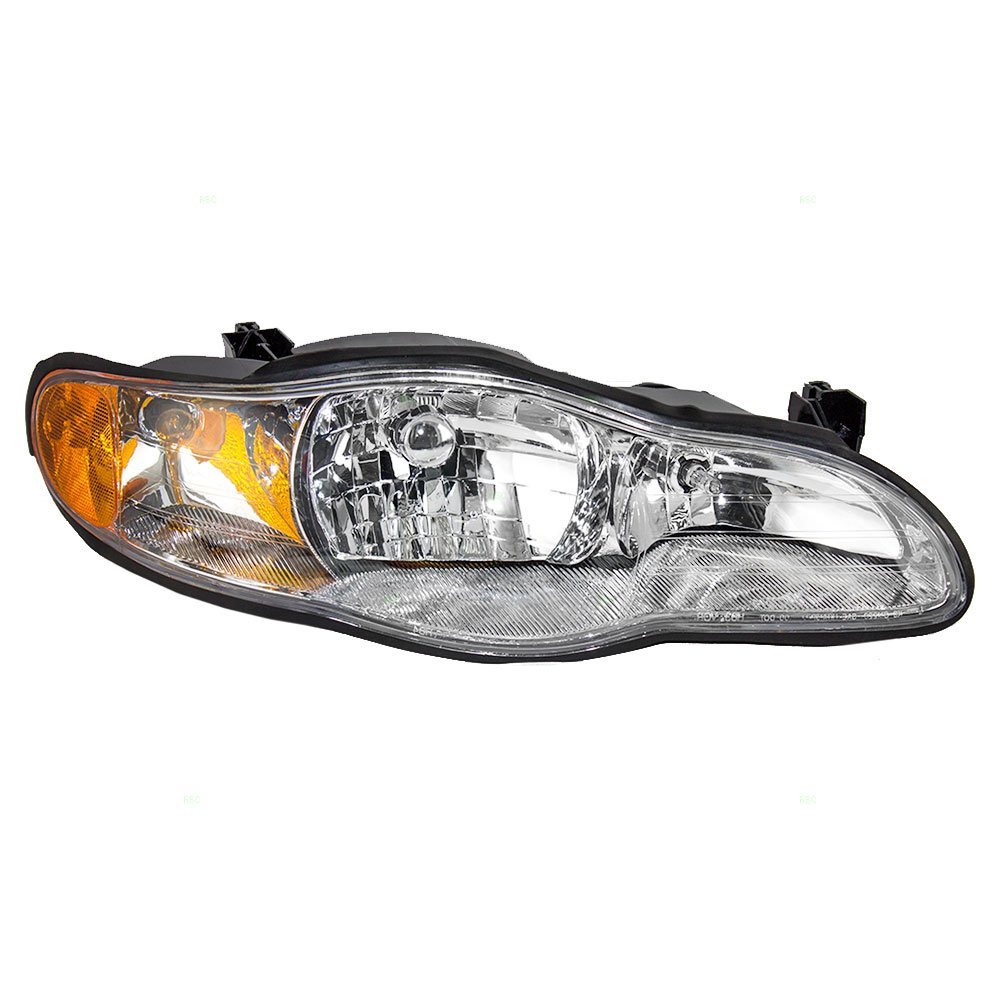 Aftermarket Replacement Passenger Headlight Compatible with 2000-2005 Monte Carlo 10349959