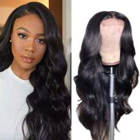 "Ali Moda Body Wave Lace Front Wigs Human Hair 150% Density Brazilian Body Wave Virgin Remy Wigs with Baby Hair For Black Woman Natural Color (10"")"