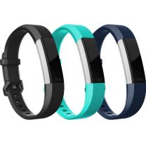 RedTaro Bands Compatible for Fitbit Alta/Alta HR(3 Pack) - Silicone Wristbands Bracelet for Women Men, Small Large