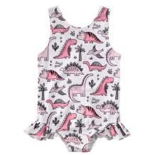 Kids Toddler Baby Girls One-Piece Ruffle Swimsuit Floral Pineapple Watermelon Leopard Swimwear