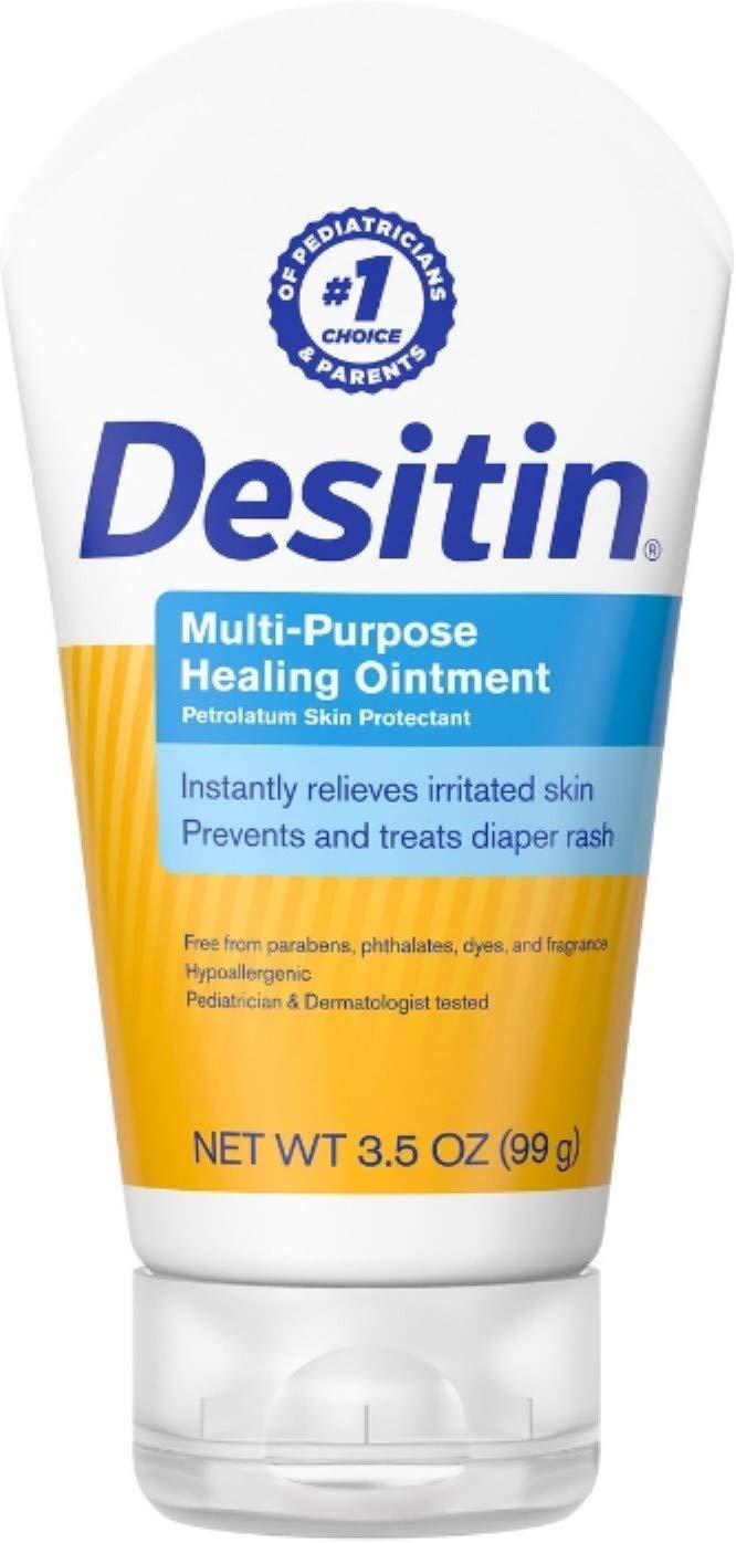 DESITIN Multipurpose Baby Diaper Rash Ointment with White Petrolatum Skin Protectant, 3.5 oz (Pack of 2)