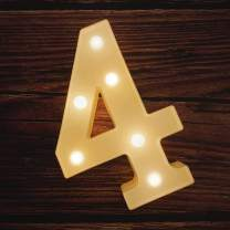 MUMUXI LED Marquee Number Lights Sign Light Up Marquee Number Letters Sign for Wedding Birthday Party Battery Powered Christmas Lamp Night Light Home Bar Decoration (4)