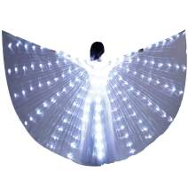 LED Isis Wing - Belly Dance Light Up Wing Party Club Wear with Flexible Sticks for Women/Girls
