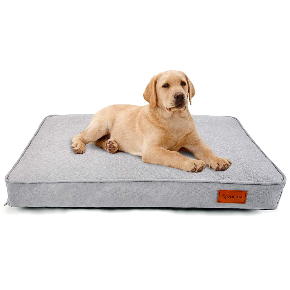 ULIGOTA Dog Bed Soft Pillow Crate Pad Washable Cushion Mat Mattress with Removable Cover Crate Bed for Dogs Cats
