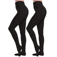 Tulucky Womens Socks Hosiery Control Top Tights Velvet Lined Pantyhose Footed Legging Pants