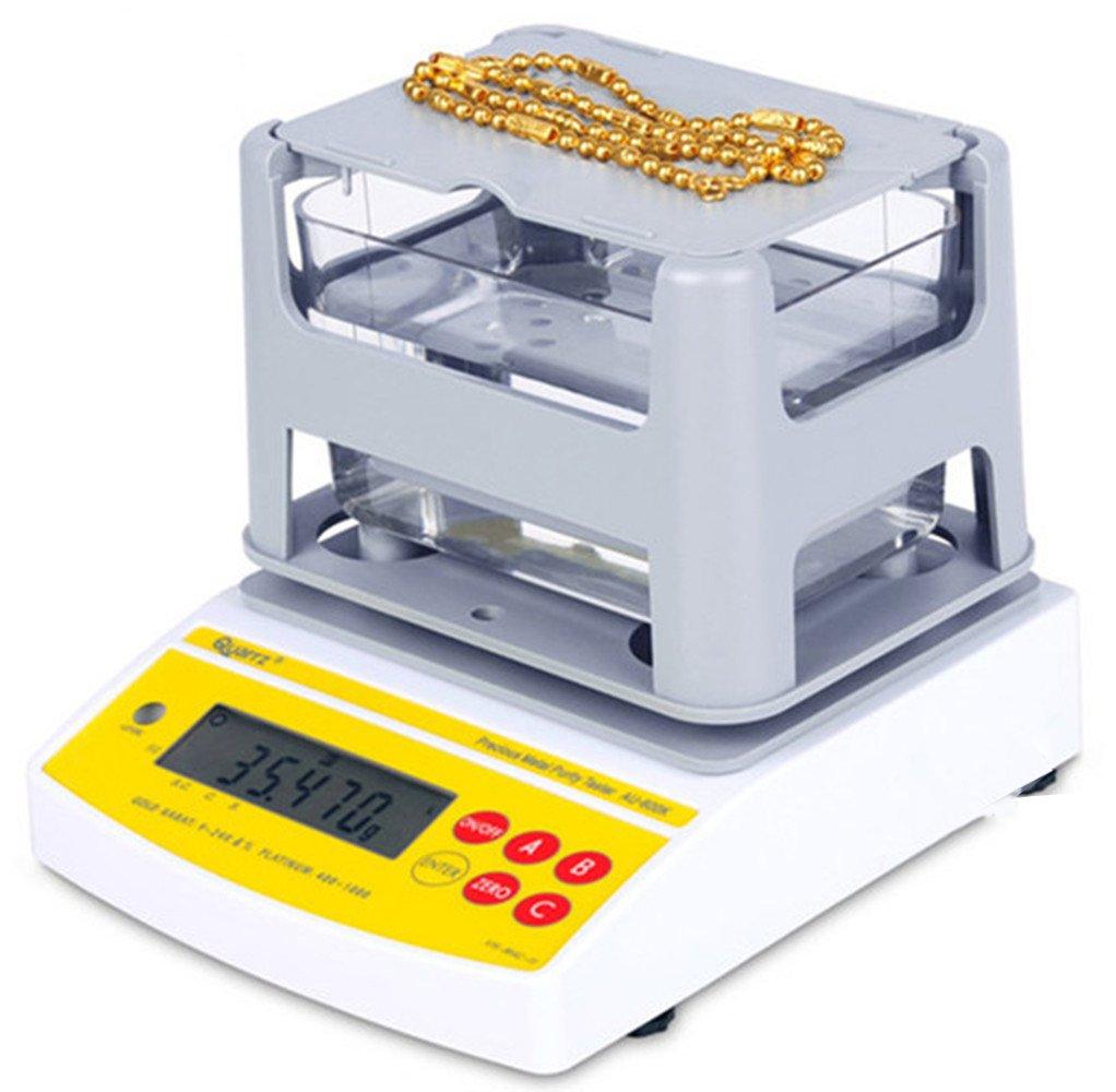 NEWTRY Digital Electronic Precious Metal Gold Purity Analyser Meter Measuring Machine Tester Testing Machine Density Tester Karat Detector (AU-1200K)