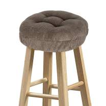 "baibu Stool Covers Round, Super Soft Corduroy Round Bar Stool Cushion Covers Seat Cushion - Cushion Only (Brown, 12"" (30 cm))"