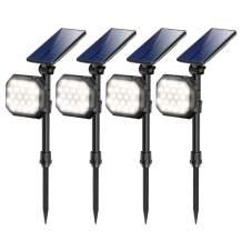 Solar Spotlights Outdoor 22 LED Waterproof Landscape Spot Light Auto On/Off Flood Lamp for Garden Yard Patio Lawn Garage Driveway
