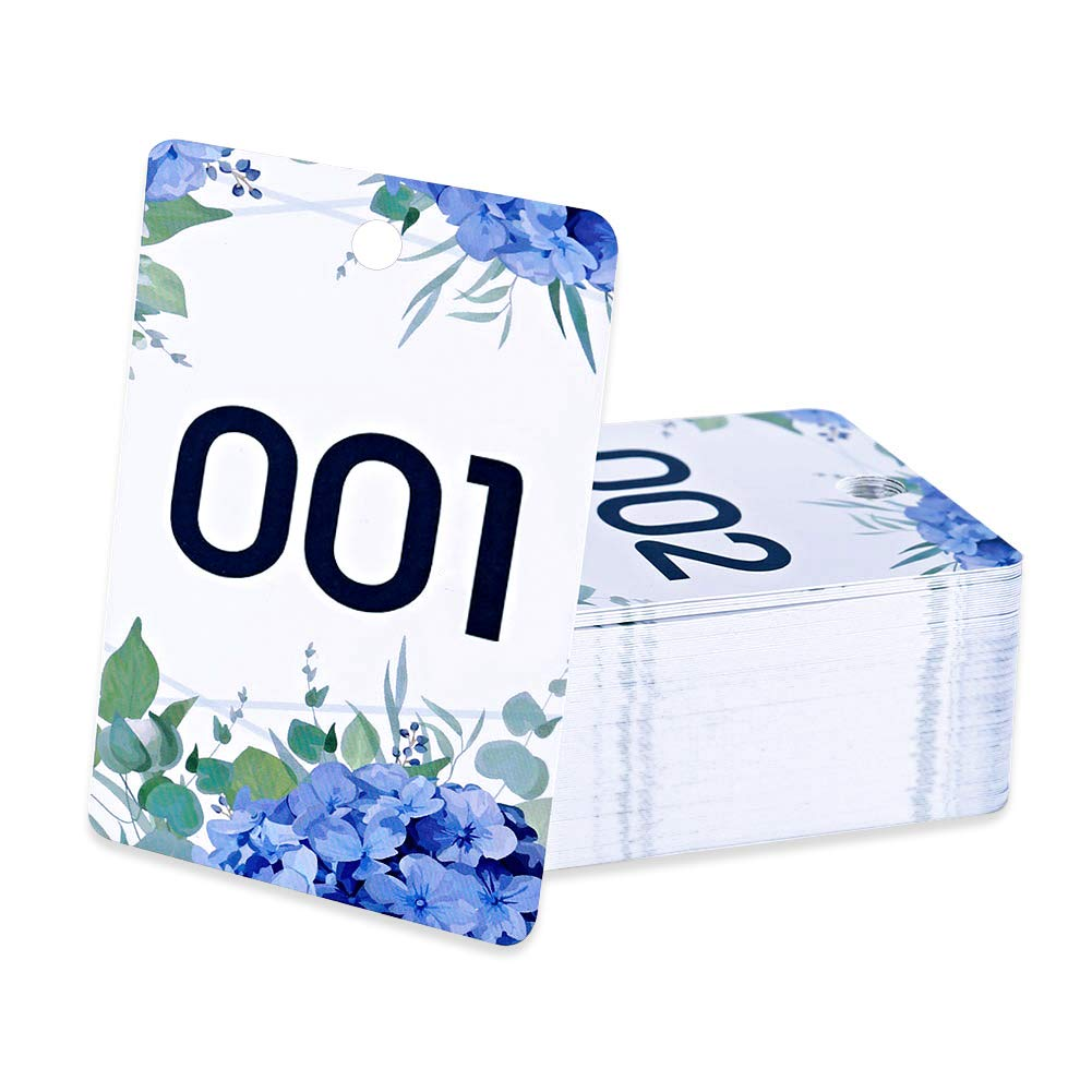 FaCraft Facebook Live Number Tag, Floral, 001-100, Reusable Normal and Reverse Mirror Image Hanger Cards