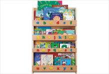 Tidy Books - Kids Bookshelf   Natural   Wall Bookshelf For Kids With 3D Alphabet Color   Montessori Materials   Wood Bookcase   45.3 x 30.3 x 2.8 in   ECO Friendly   Handmade - The Original Since 2004