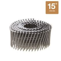 """15 Degree Wire Coil Collated Nails - 304 Stainless Steel - 3600 Count Box (1-3/4"""" x 0.090"""" Siding Nails)"""
