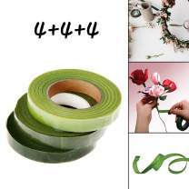 Rolin Roly Set of 12 Rolls Floral Tape 3 Colors Stem Waterproof Wrap Tape for Bouquet Stem Wrap Flower Making Tapes