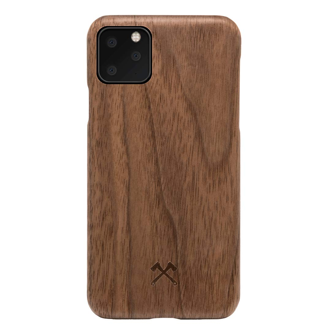 Woodcessories - Case Compatible with iPhone 11 Pro Made of Real, Sustainable Wood, EcoCase Slim (Walnut)