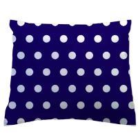 SheetWorld - Toddler Pillowcase Hypoallergenic Made in USA - Polka Dots Royal 13 x 17