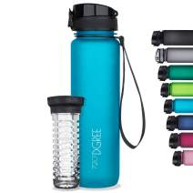 "720°DGREE Water Bottle ""uberBottle"" +Fruit Infuser - 1L - BPA-Free, Leakproof - Reusable Tritan Sports Bottle for Fitness, Workout, Bike, Outdoor, Yoga, Hiking - Lightweight, Sustainable"
