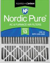 Nordic Pure 20x25x5 MERV 13 Pleated Plus Carbon Lennox X6673 Replacement AC Furnace Air Filter 1 Pack