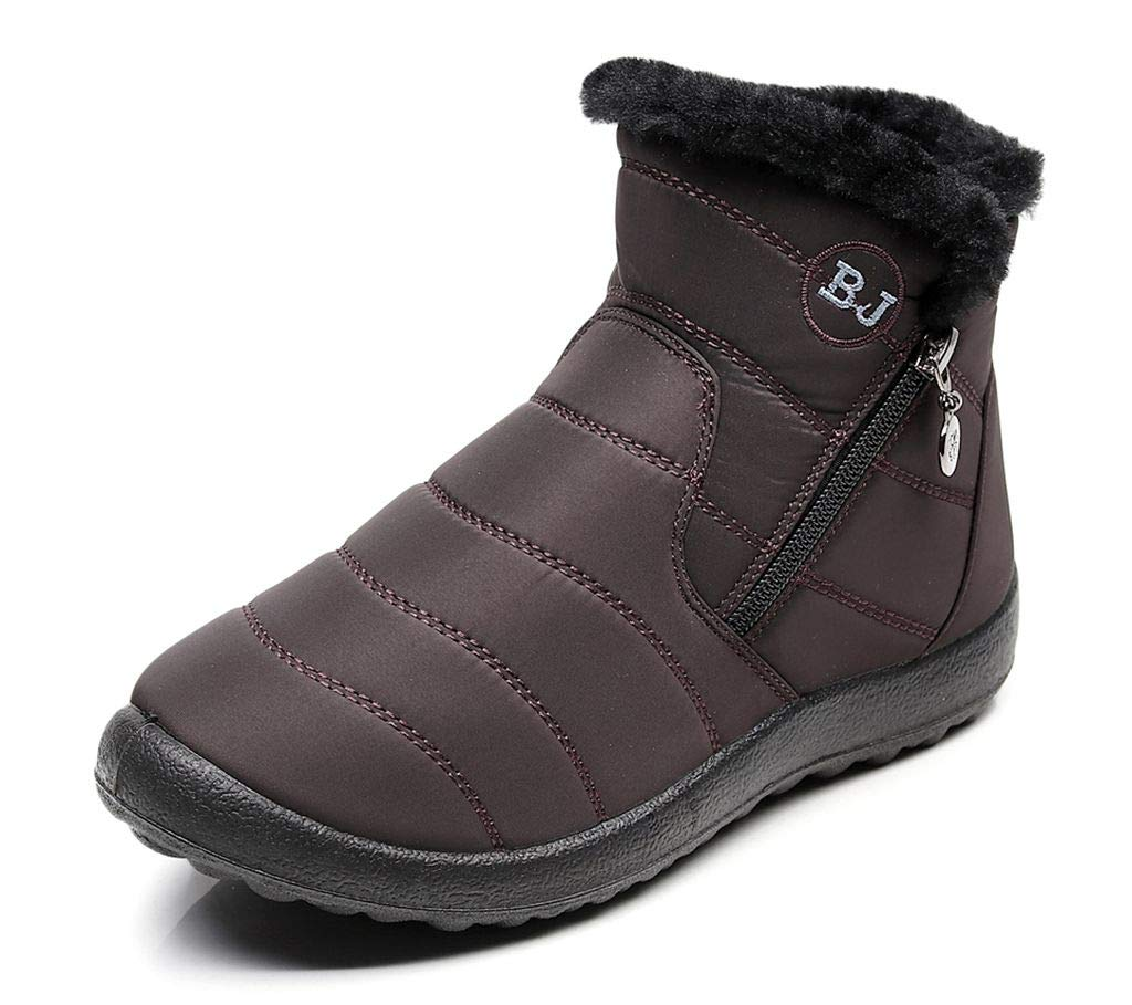 labato Warm Snow Boots Winter Ankle Boots Fur Lining Boots Waterproof Winter Shoes for Women and Men