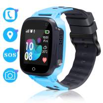 Smart Watch for Kids Smartwatch Phone GPS Watch for Kids Waterproof Watch with SOS Camera Alarm Clock Security Zone Voice Chat Tracker Watch for Kids with Phone Birthday Gifts for Girls Boys Watch Age