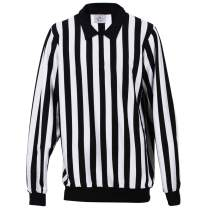 EALER Men Striped Referee Shirt Long Sleeve Black & White Professional Referee Jersey