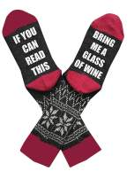 IF YOU CAN READ THIS Socks Funny Saying Womens Mens Novelty Knit Cotton Christmas Party Crew Socks