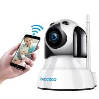TAOCOCO Dog Camera, Pet Camera, 1080P FHD WiFi IP Surveillance Camera, Wireless Security Dome Camera for 2.4 GHz, Home Baby Monitor Nanny Cam with Smart Pan/Tilt/Zoom, Motion Detection, Night Vision