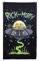 """Calhoun Rick and Morty Indoor Wall Banner (30"""" by 50"""") (Space Cruiser)"""