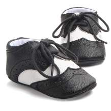 Methee Infant Baby Boys Girls Walking Shoes, Soft Sole Non-Slip First Walker Shoes Newborn Crib Shoes, Perfect for Baptism/Crawling/Wedding