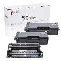 Tonersave TN850 DR820 Compatible for Brother HL-L5200DW,HL-L6200DW,MFC L5700dw Drum,MFC-L5900DW,DCP-L5500DN,DCP-L5600DN,DCP-L5650DN,HL-L5000D,HL-L5100DN,HL-L5200DWT 3Pack (2 Toners + 1 Drum Unit)