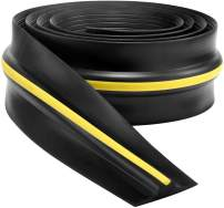 10Ft Universal Garage Door Threshold Weather Seal Kit - Bottom Seal Rubber - Garage Shield - Heavy Duty Replacement Bottom Weatherseal - 9/16 Inch Thick (Not Include Adhesive/Sealant)