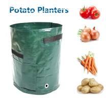 Amakunft 2 Pack of Potato Pots Planters, 10 Gallon Mushroom Growing Kit with Flap and Handles, Tomato Planting Grow Bags for Vegetables Potato Carrot Onion Taro Radish Peanut