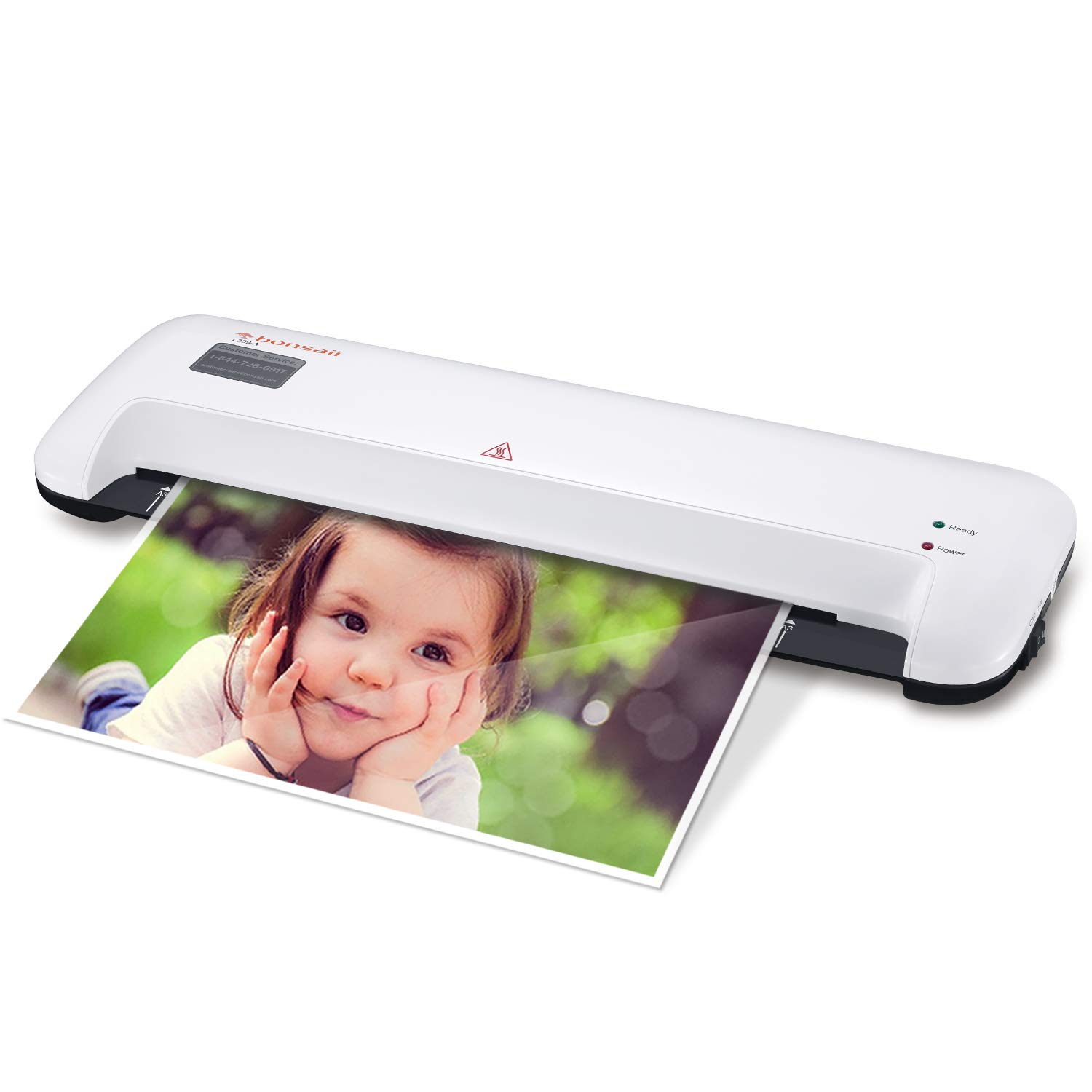 Thermal Laminator, 13 Inches Width Laminating Machine for A3/A4/A6, 3 Min Fast Warm-up with 12 inches/min Quick Laminating Speed, Quiet for Office/School/Home Use, Includes Laminating Pouches, L309-A