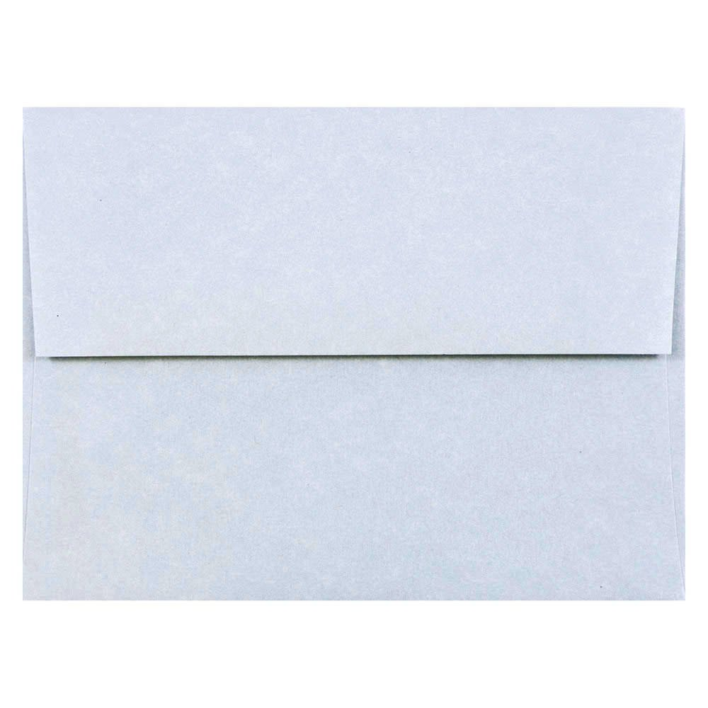 JAM PAPER A2 Parchment Invitation Envelopes - 4 3/8 x 5 3/4 - Blue Recycled - 50/Pack