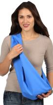 HugaMonkey Cotton Baby Sling Wrap Carrier for Newborn Babies, Infants and Toddlers Upto 3 Years - Blue, Medium