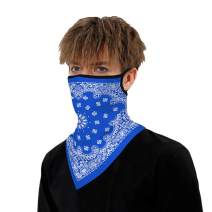 Scarf Bandana Ear Loops Face Rave Balaclava Men Women Neck Gaiters for Dust Wind Motorcycle Scarf 1PC