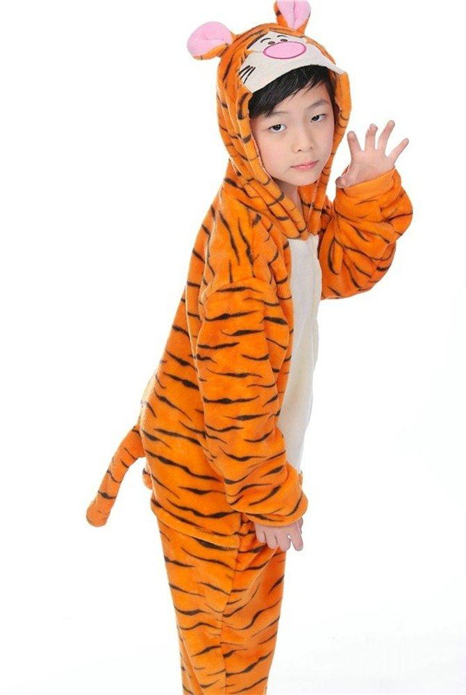 OVOV Kid's Animal Onesie Cosplay Costume Pajamas Unisex Child Sleepsuit for Party and Halloween Christmas