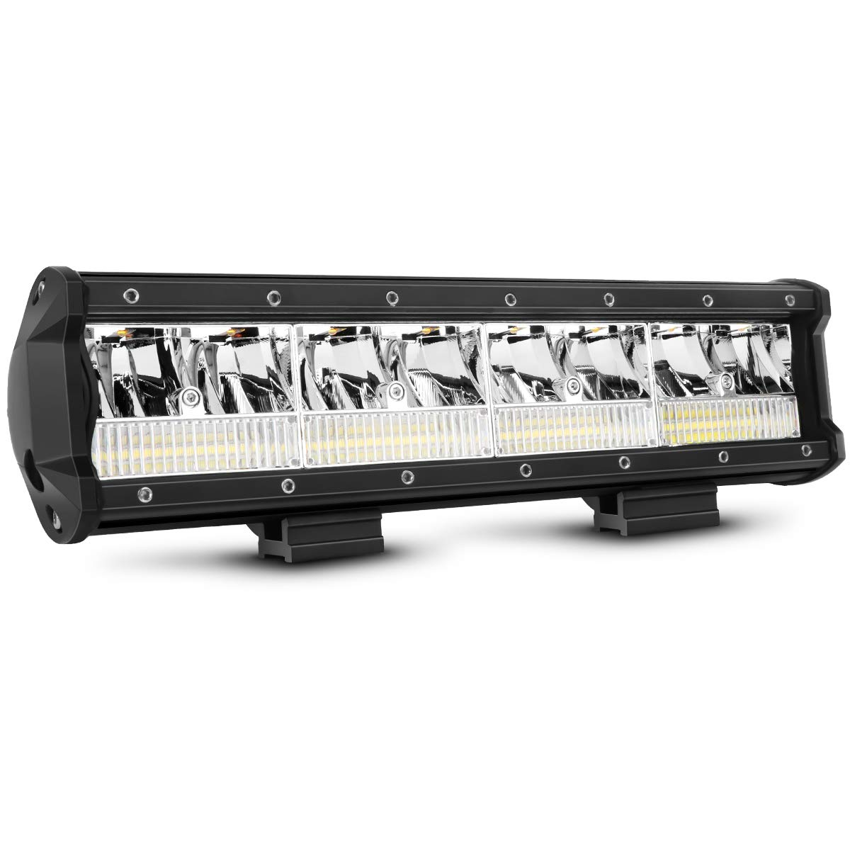 HOZILIFE 12 Inch LED Light Bar 240W Flood Spot Combo Beam Offroad Driving Lamps for Trucks Jeep ATV Boat, Upgraded.