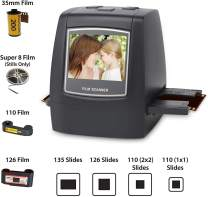 """DIGITNOW Film Scanner with 22MP Converts 126KPK/135/110/Super 8 Films, Slides, Negatives All in One into Digital Photos,2.4"""" LCD Screen, Impressive 128MB Built-in Memory"""