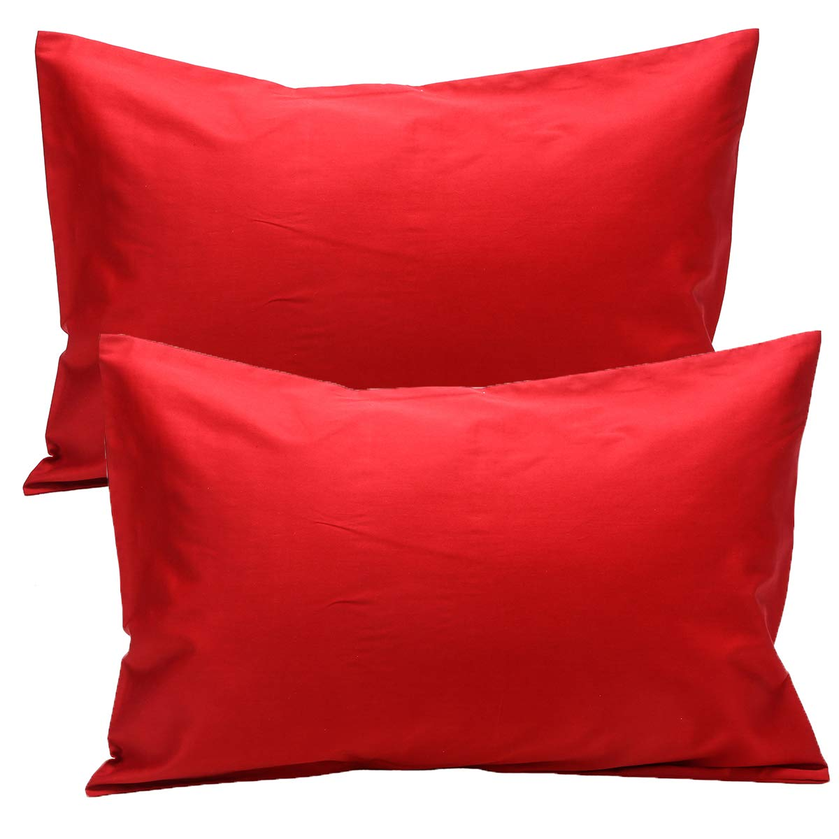 UOMNY Kid Pillowcases 2 Pack 100% Cotton Pillow Cover 14x20 Baby Pillow Cases for Sleeping Tiny Pillows case for Kids Solid Pillowcases Travel Pillowcases Jujube Red Kids' Pillowcases