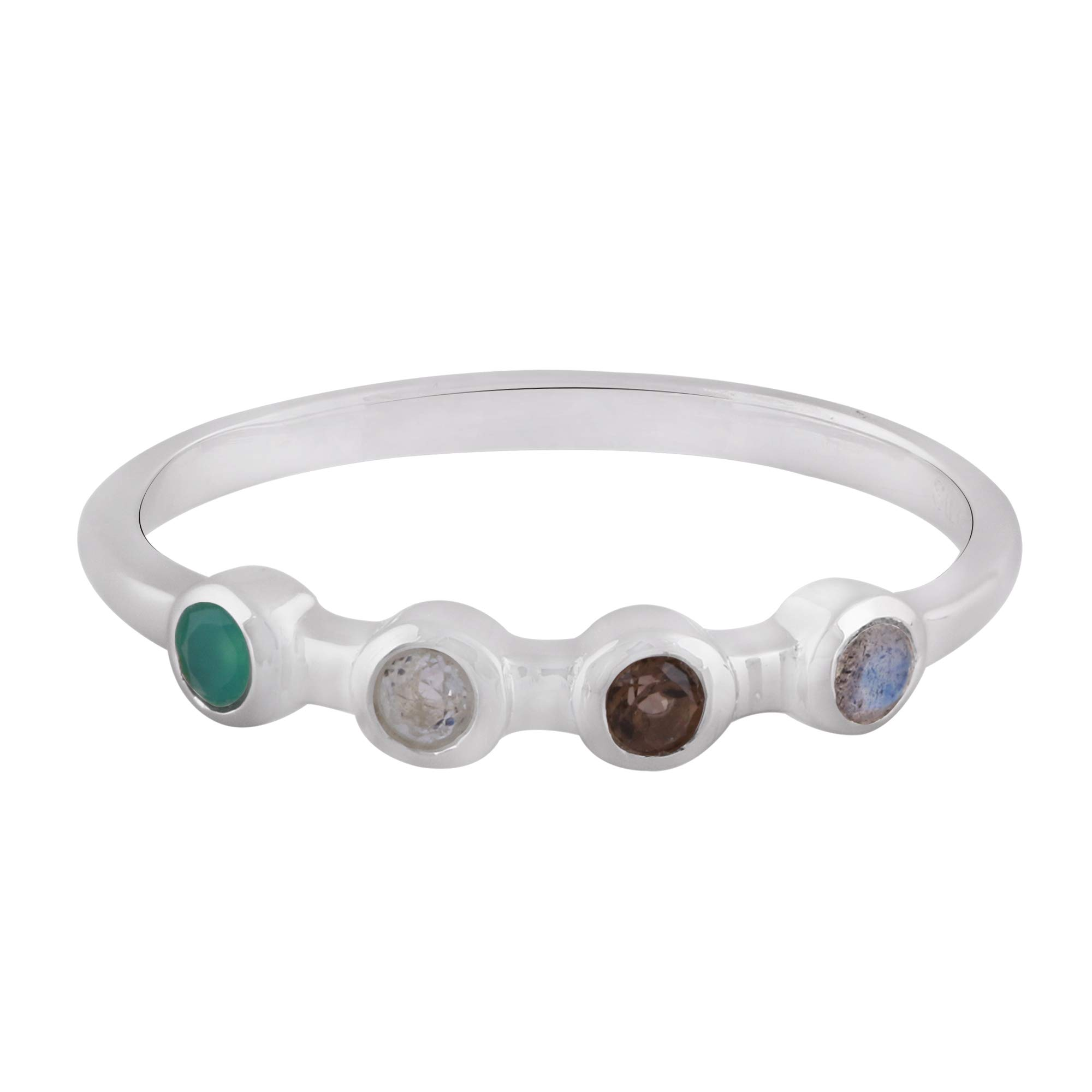 Blue Topaz Bracelet Made with Rhodium Plated Brass December Birthstone