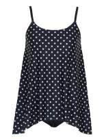 DANIFY Women's Layered Lace Mesh Swimsuit Plus Size Swimwear Tankini Bathing Suit Tummy Control Swim Dress